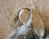 Vintage Handmade Rabbit Doll 1989