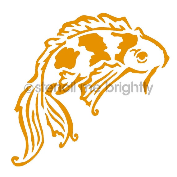 Unavailable listing on etsy for Koi fish stencil