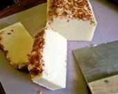 Toasted Coconut Cream/Pina Colada- shea buter Olive Oil Scrub Top soap  (YUMMY)