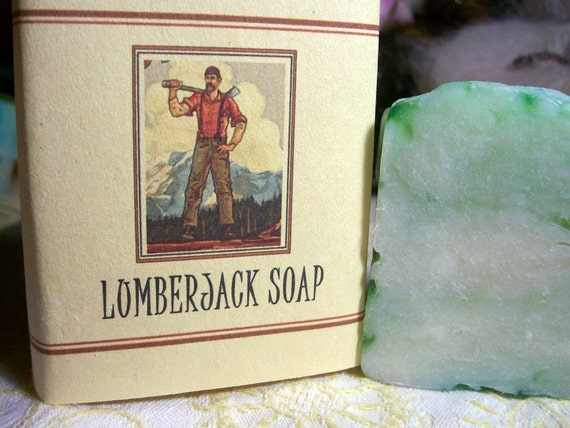 Lumberjack Manly guy soap  Blue Spruce scent 5 oz.Vegan