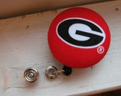 UGA Bulldogs Retractable ID Badge Reel