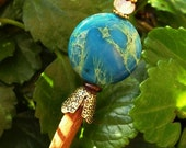 "RESERVED for Jackie --Aqua Terra Jasper Wood Shawl Pin Hair Stick  - ""Sticks and Stones"""