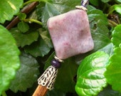 "Lilac Jasper Wooden Shawl Pin or Hair Stick  - ""Sticks and Stones"""