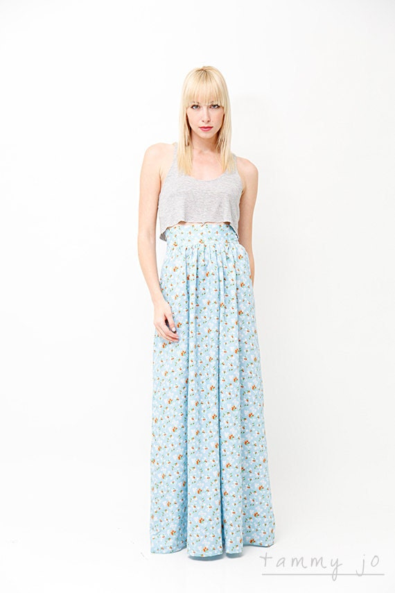 high waisted floral maxi skirt modern by