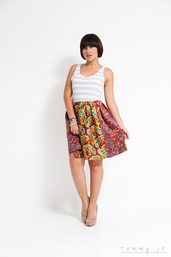 RESERVED FOR CHASSKY - Full Skirt Dress - Summer Fashion - Sustainable Womens Apparel by Tammy jo