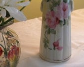 Vintage Bud Vase with Delicate Roses