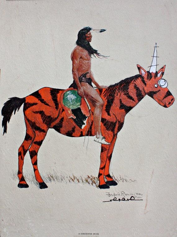 Rides With Tigercorn 8.5 x 11 Art Print
