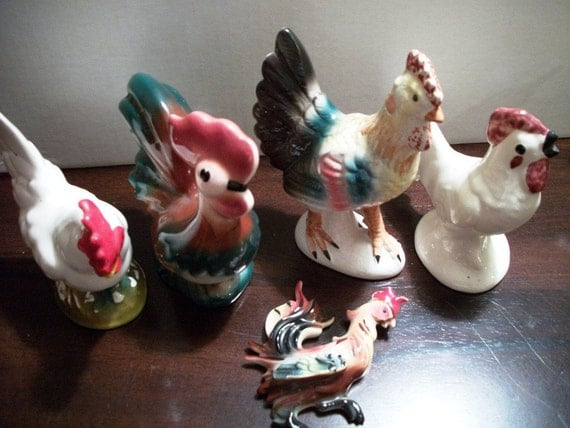 Antique Rooster and Hen Collection