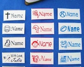 30 Custom Iron-on Name Labels-School,Daycare,Nursery Home,Summer Camp,Kindergarten,Pre-K