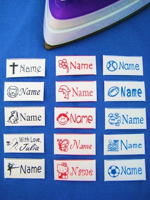 60 Custom Iron-on Name labels-School,Daycare,Nursery Home,Summer Camp,Kindergarten,Pre-K