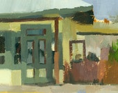 CLEARANCE landscape original oil painting 9 x 12 - Blue Bar and Grill