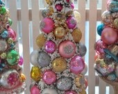 Sweet Valentine Bottle Brush Tree Chic Pink & Gold christmas HoLiDaY DreaM vintage glass garland Glass Ornaments teacup bottlebrush
