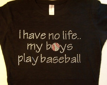 Discontinued/sale Boys Play Baseball Crystal Rhinestone Heat Transfer-DIY