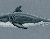 Great White Shark counted cross-stitch chart