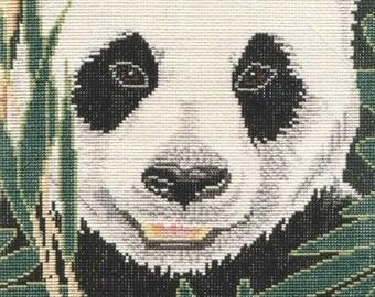 Giant Panda counted cross-stitch chart