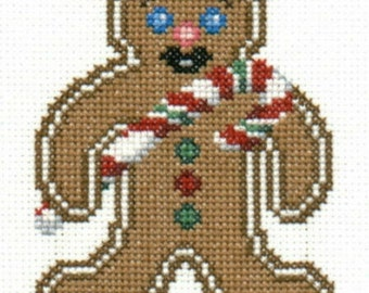 Gingerbread Boy counted cross-stitch chart