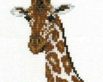 Giraffe counted cross-stitch chart
