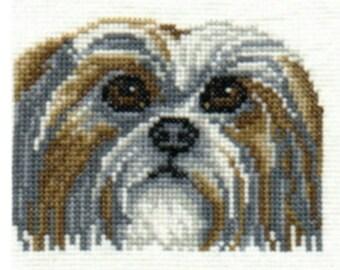 Shih Tzu counted cross-stitch chart
