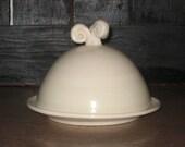 Swirl Handled  Butter Dish