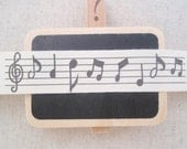 ON SALE - 5 Meters Sewing Fabric Tape/Ribbon - Music Notes (Black)