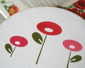 SALE - Now 20 % off: Wall Hanging - Pink and Red Poppies