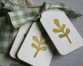 Hand Stamped Gift Tags - Sweet Little Leaf