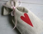 Organic Lavender Sachet - Warm Red Heart