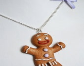 "Scented Gingerbread man necklace ""Gingy"""