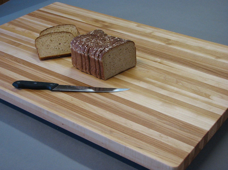 Butcher Block Cutting Boards ~ Maple butcher block cutting board edge by davescustomservices