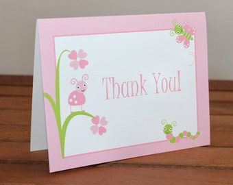 Adorable Baby Bugs Baby Shower Thank You Cards