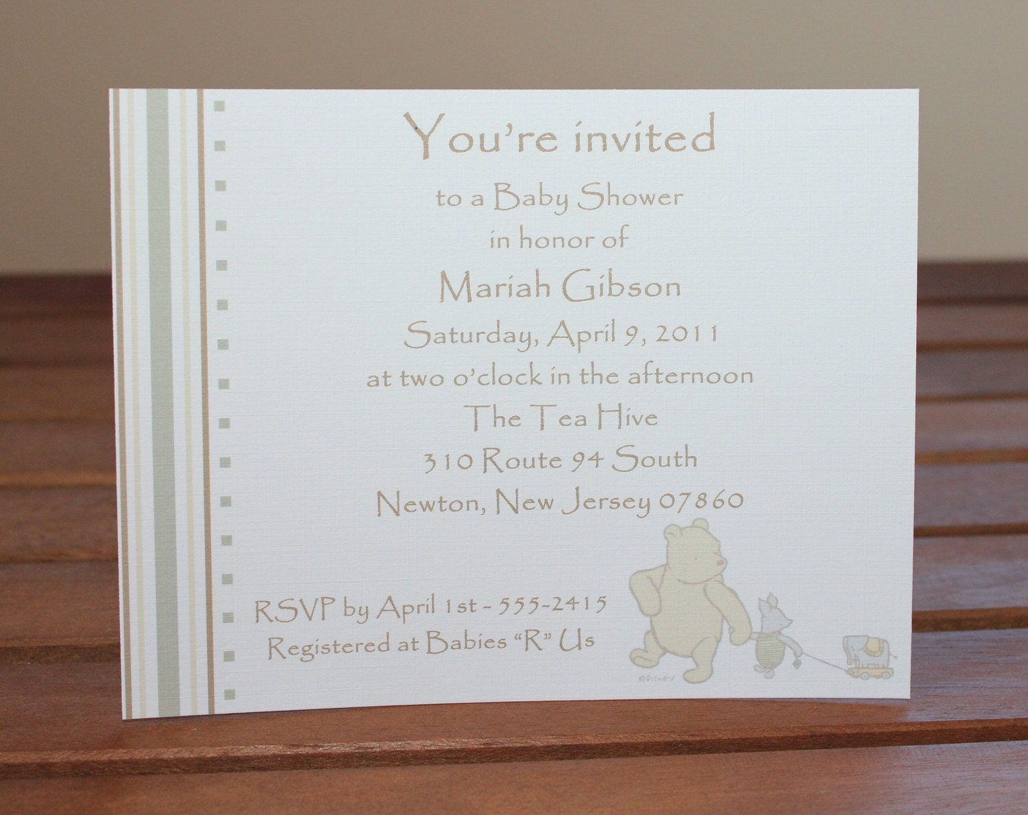 classic winnie the pooh baby shower invitation set of 50