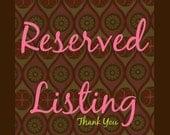 Reserved Listing for Lindsay