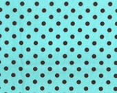Michael Miller Fabric, Dumb Dot in Aqua, 1 Yard Total