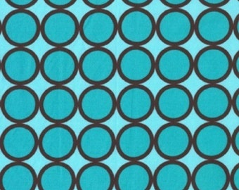 Michael Miller Fabric-Ring Dot in Turquoise-1 Yard