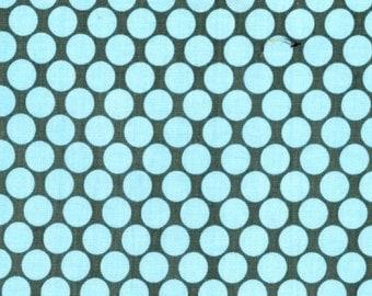 Amy Butler Fabric-Full Moon Polka Dot in Slate-Lotus-1 Yard