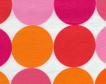 Disco Dot in Flamingo, Designer Fabric by Michael Miller Fabrics, 1 Yard