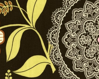 Amy Butler Fabric, Lacework in Olive, Lotus Collection, 1 Yard