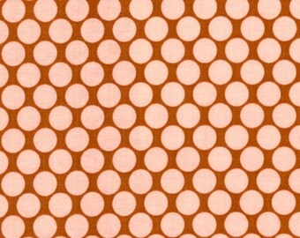 Amy Butler Fabric, Lotus Collection, Full Moon Polka Dot in Camel, 1 Yard