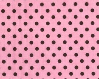 Michael Miller Fabric, Dumb Dot in Pink, 1 Yard Total