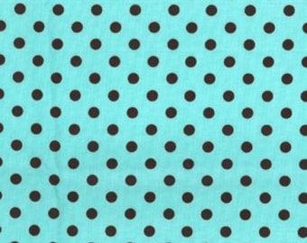 Michael Miller Fabric, Dumb Dot in Aqua, 1 Yard Total