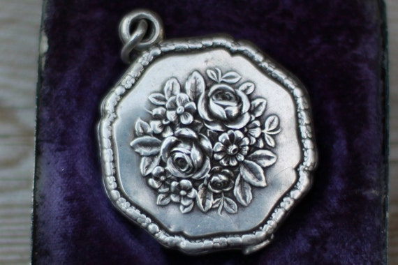 Perfectly beautiful Sterling Slide Locket with Mary and Angels in Silver Box