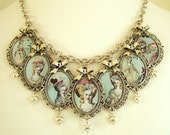 Marie Antoinette Necklace-Altered Art Necklace-Cameo Necklace