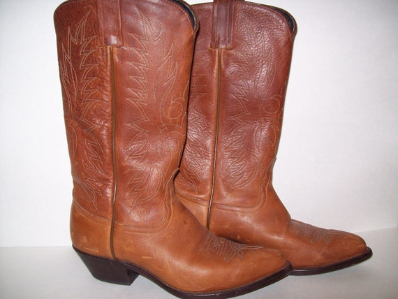 Tony Lama Boots 6M, Small Leather Boots, Country Western Boot, Western Boot