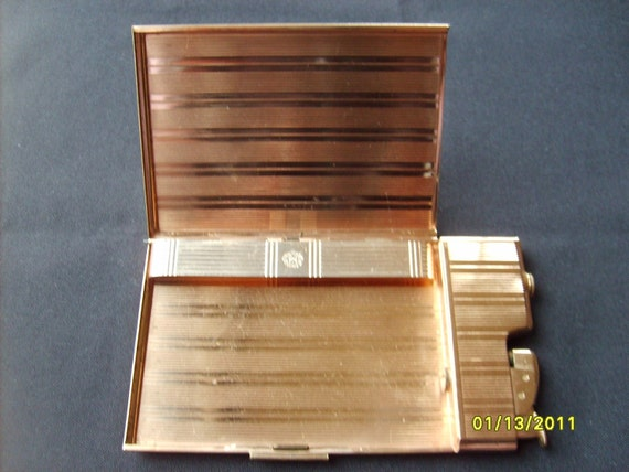 Vintage Cigarette Case & Lighter by Evans