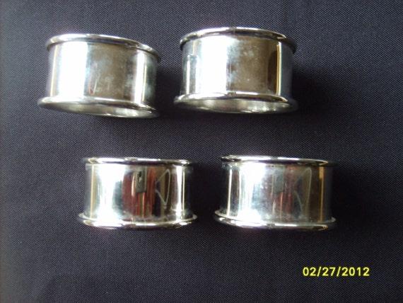 Silver Napkin Rings (set of 4)