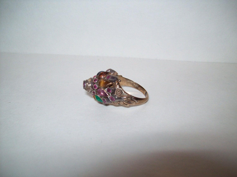 vintage 14k gold princess ring