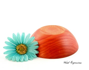 Wooden Snack Bowl, Orange Ash Bowl , Candy Dish,