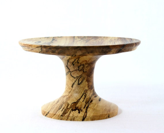 Wooden Pedestal Cupcake Stand Candle Holder