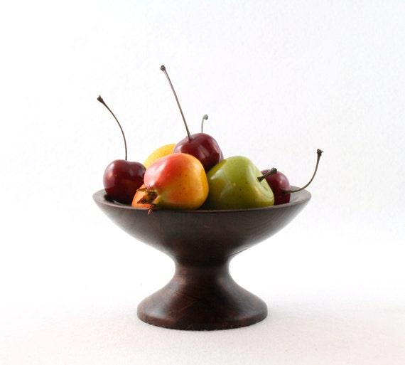 Wooden Walnut Pedestal Candy Dish/Bowl