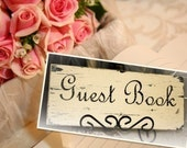 Cottage Wedding Sign GUEST BOOK vintage inspired 5 x 12